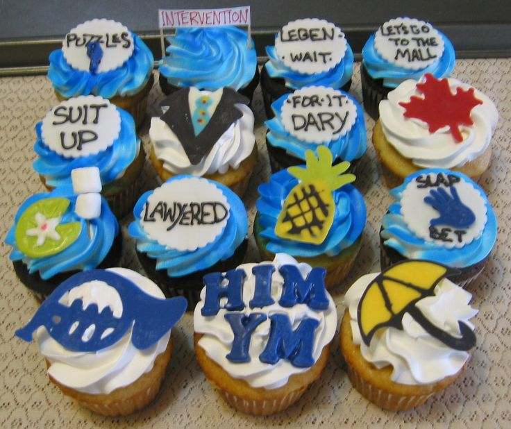 How I Met Your Mother HIMYM Cupcakes! - Rubio's Cupcakes
