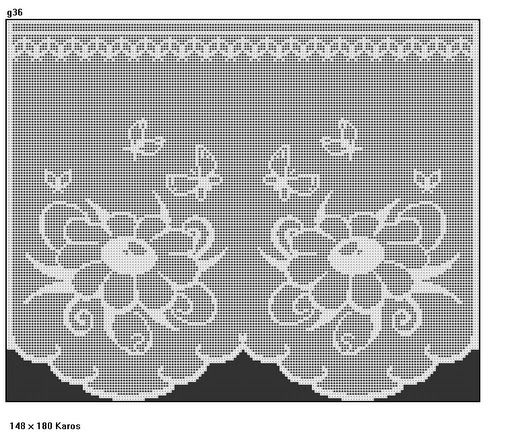"Short curtains ""Flower and Butterfly"""