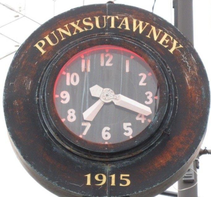 CLOCK IN PUNXSUTAWNEY,PA.
