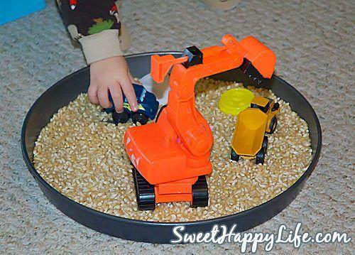 Indoor Toddler Activities - Popcorn Kernels