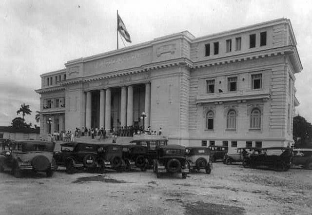 Inauguracion del Palacio de Justicia de Santa Clara. Obras Publicas.  Foto Marzo 30 del 1930.