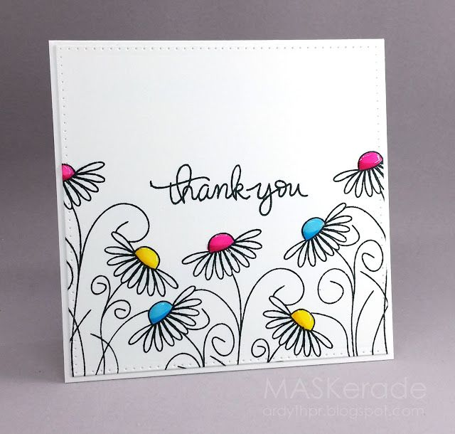 Fs497 Thank You Maskerade Simple Greetings Pinterest Cards