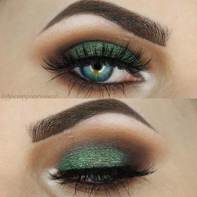40/100  Perfect for fall/autumn, can't go wrong with an emerald smokey eye…