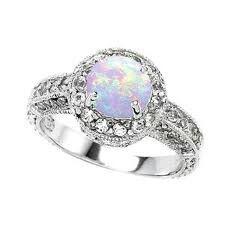 Moon stone wedding ring
