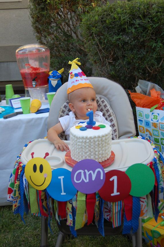 Baby Einstein High Chair Rag Bunting with by padicakesparty