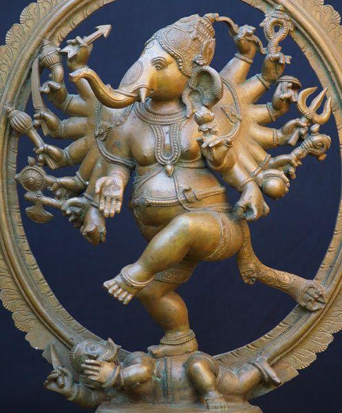 Ganesh Dancing Nataraja, Natarja Ganesh Statue, Bronze Nataraja ...