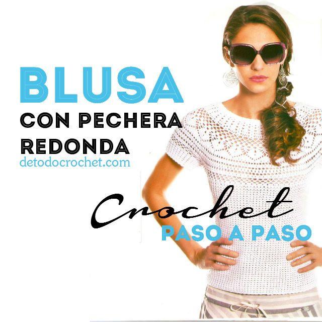 290 best blusa , jersey, top images on Pinterest | Crochet tops ...