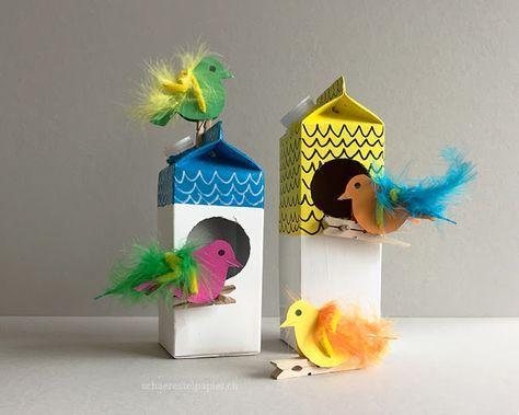 die besten 25 vogelhaus basteln ideen auf pinterest kinder basteln vogelfutter kinder. Black Bedroom Furniture Sets. Home Design Ideas