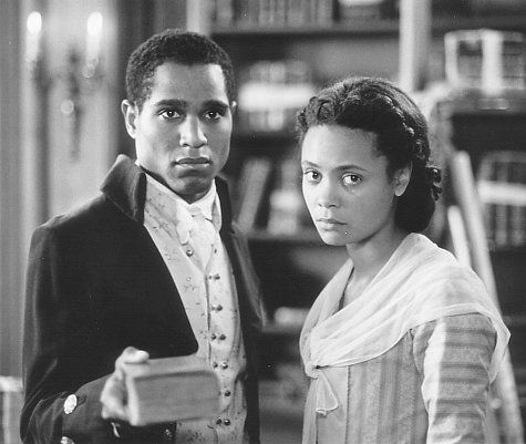 The freedom which James Hemings (Seth Gilliam, left) and his sister Sally (Thandie Newton, right) learn to cherish as members of Jefferson's entourage in Paris, is a sacred right they are reluctant to give up when their master decides to return to Monticello.
