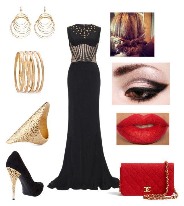 Glam by fashionguru25 on Polyvore featuring polyvore fashion style Alexander McQueen Gianmarco Lorenzi Chanel H&M MANGO Amrita Singh clothing