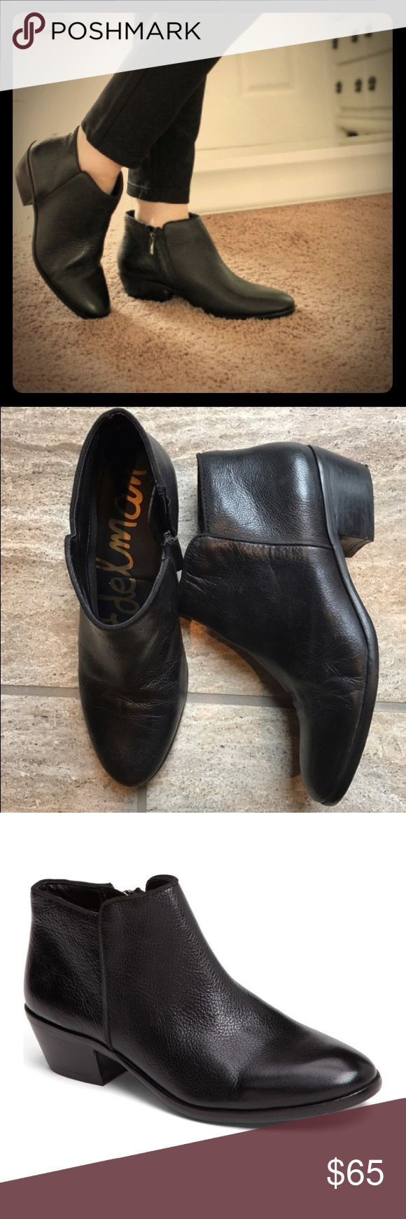 Sam Edelman Petty Chelsea Ankle Boot Sam Edelman Petty Chelsea Ankle Boot in black leather. Worn ONCE! Popular and stylish with very high-ratings! Make an offer! Sam Edelman Shoes Ankle Boots & Booties