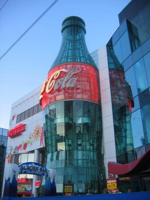Coca cola's history and free coke products to taste from places all over the world. Of course me and my brother had to try everything. The feeling in my stomach afterwards was quite funny.