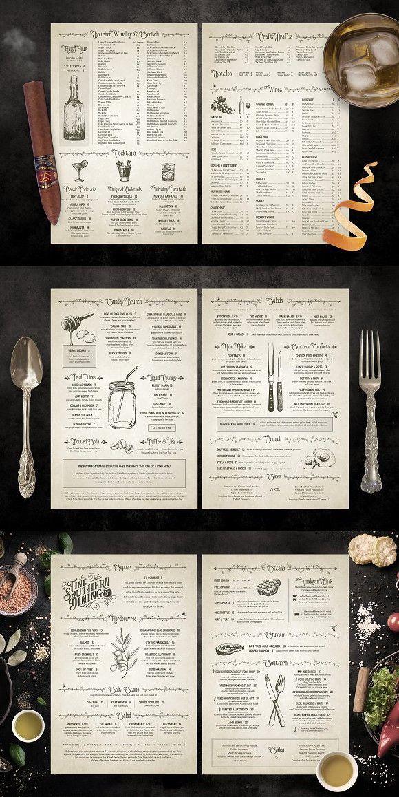 Classic Vintage Restaurant Menus Menu Restaurant Cafe Menu Design Restaurant Menu Design