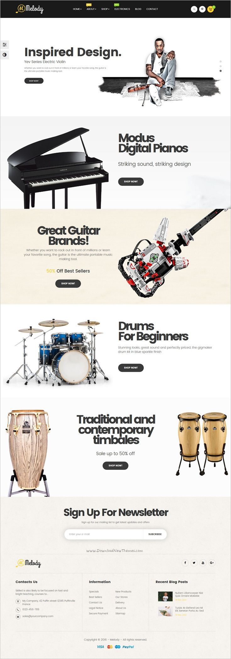 Leo Melody is a wonderful responsive 4in1 #Prestashop theme for #music #instrument #store or accessories shop eCommerce website download now➩ https://themeforest.net/item/leo-melody-responsive-prestashop-theme/18903401?ref=Datasata