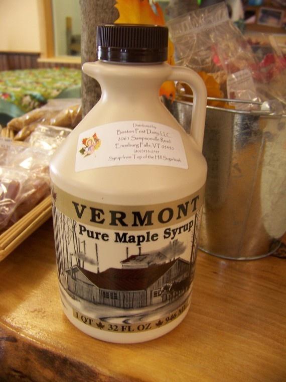100 Percent Pure Vermont Maple Syrup Quart