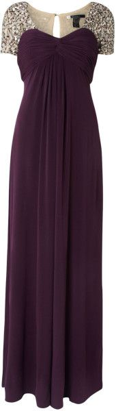 Js Collections Mat Jersey Maxi Dress with Bead Cap Sleeves @Lyst
