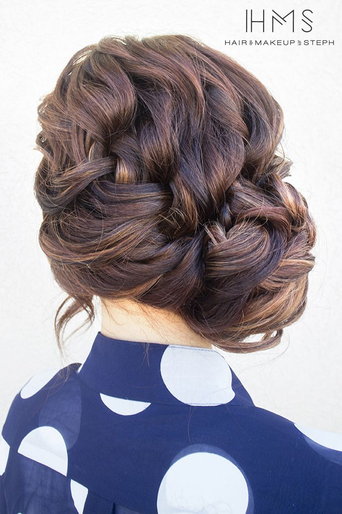 French braid updo #HairandMakeupbySteph