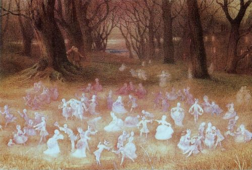 """oldpaintings: """"The Haunted Park by Richard Doyle (English, 1824–1883) """""""