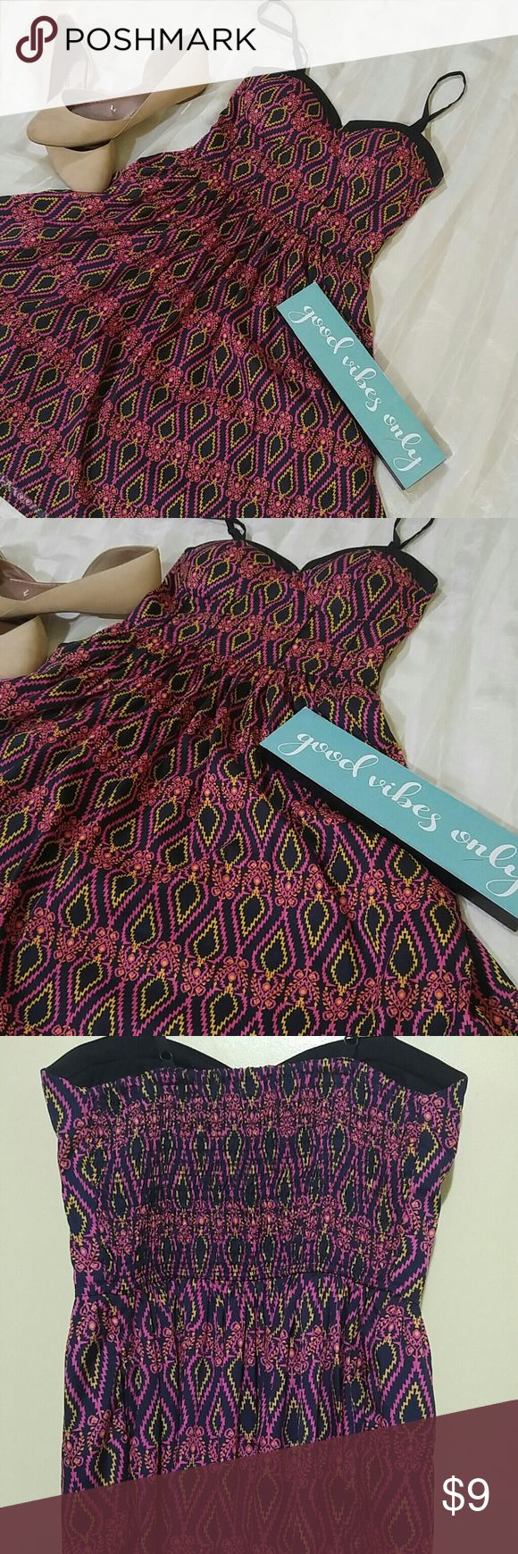 🎉American Rag printed dress🎉 Really cute and great for summer☺ Lightly padded and stretchable waist. EUC no visible signs of rips, holes, or tear. American Rag Dresses