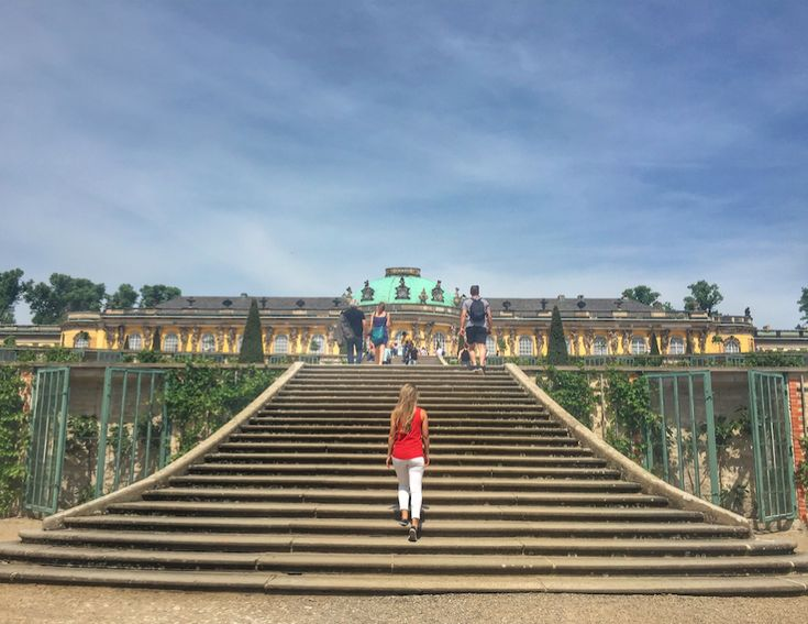 Sanssouci Palace in Potsdam // Day trip from Berlin on happiestwhenexploring.com
