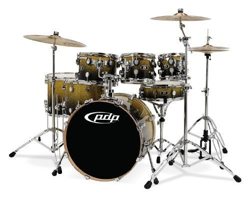 Pacific Drums by DW X7 Shell Pack, Maple, Gold to Black Fade (Cymbals and Hardware Not Included) by Pacific Drums. $1019.97. Pacific Drums by DW X7 Maple 7-Piece Lacquer Finish Drum Shell Pack. Save 32%!