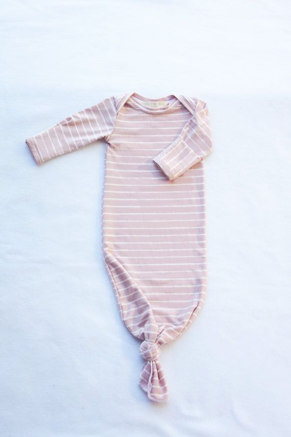 1bdf3966771f Baby Knotted Sleeper Newborn Gown by LittlePeanutThreads on Etsy ...
