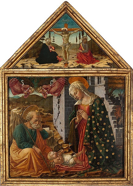 Adoration of the Child and Crucifixion by Fra Diamante. Isabella Rochin.