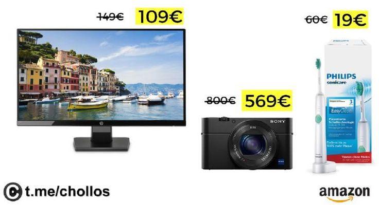 Monitor HP Cámara Sony RX100 y Cepillo Philips Sonicare desde 19 - http://ift.tt/2zRWmT3