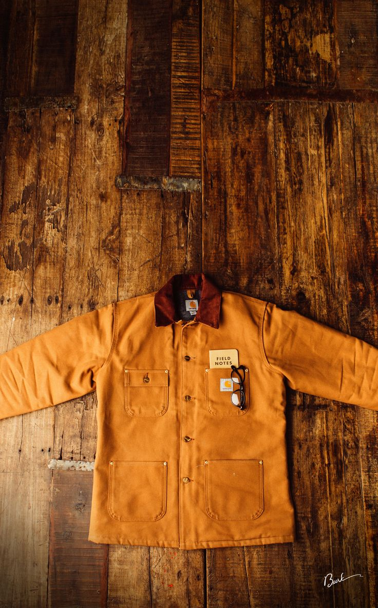 My Carhartt chore coat. Can't wait to take this same photo in a few years after…