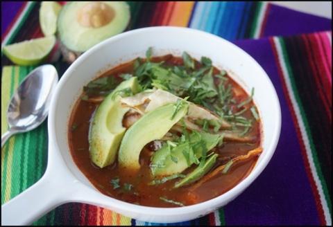 spicy tortilla soup.