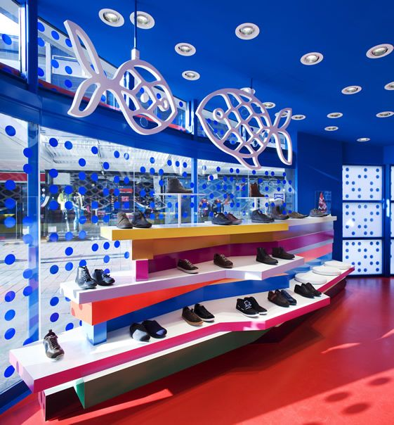 Camper Together, Rotterdam. Spanish brand's fishbowl boutique is anything but reserved.