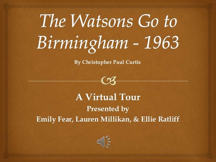 The watsons go to birmingham   1963