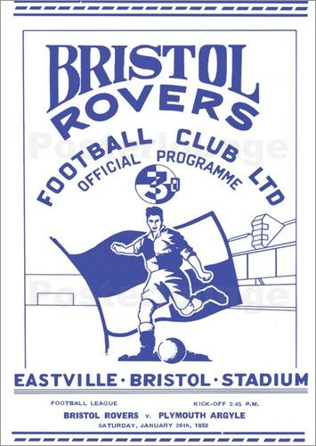 Bristol Rovers Poster.
