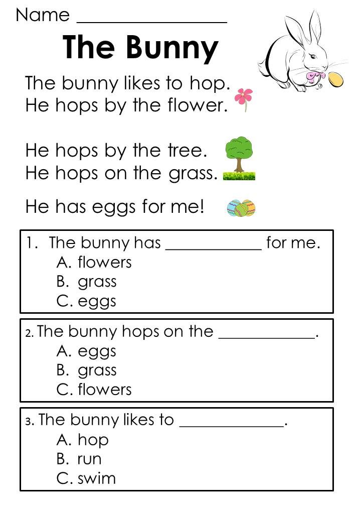 Easter Reading Comprehension Passages ~ Designed to help kids develop comprehension skills early in the process