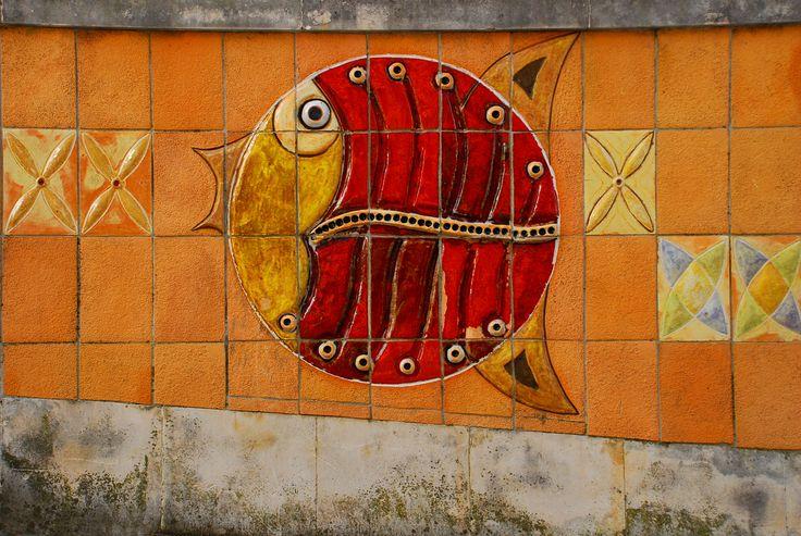 Azulejos, tiles. In the town of Aveiro