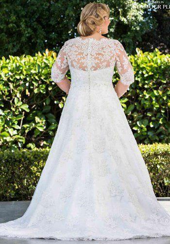 Roz la Kelin - Glamour plus Collection Ava 5730T A-Line Wedding Dress