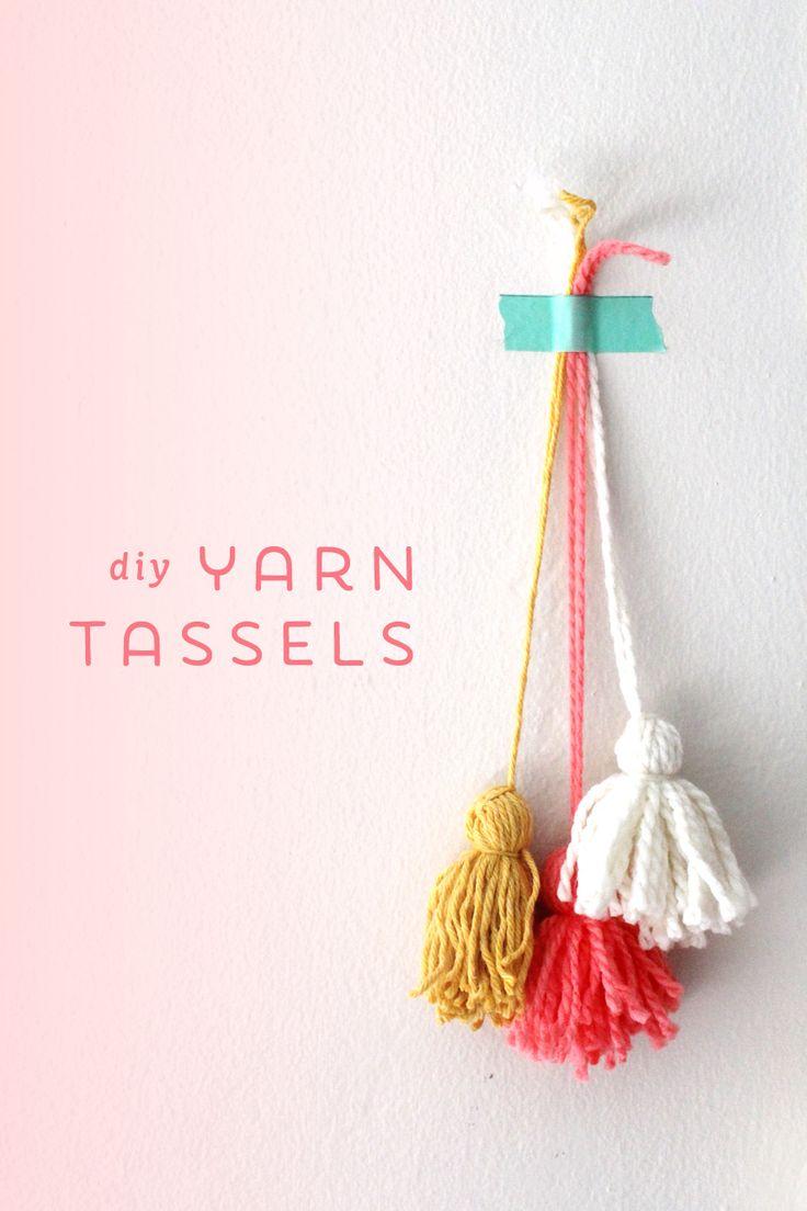 DIY Yarn Tassels |
