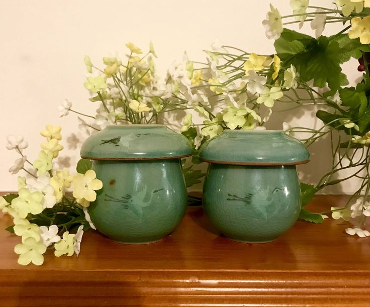 https://www.etsy.com/shop/CoCoBlueTreasures #chinese #bing #facebook #yahoo #pinterest   on sale Celadon tea cups with infusers vintage Korean fine ceramic pottery vintage kitchenwares