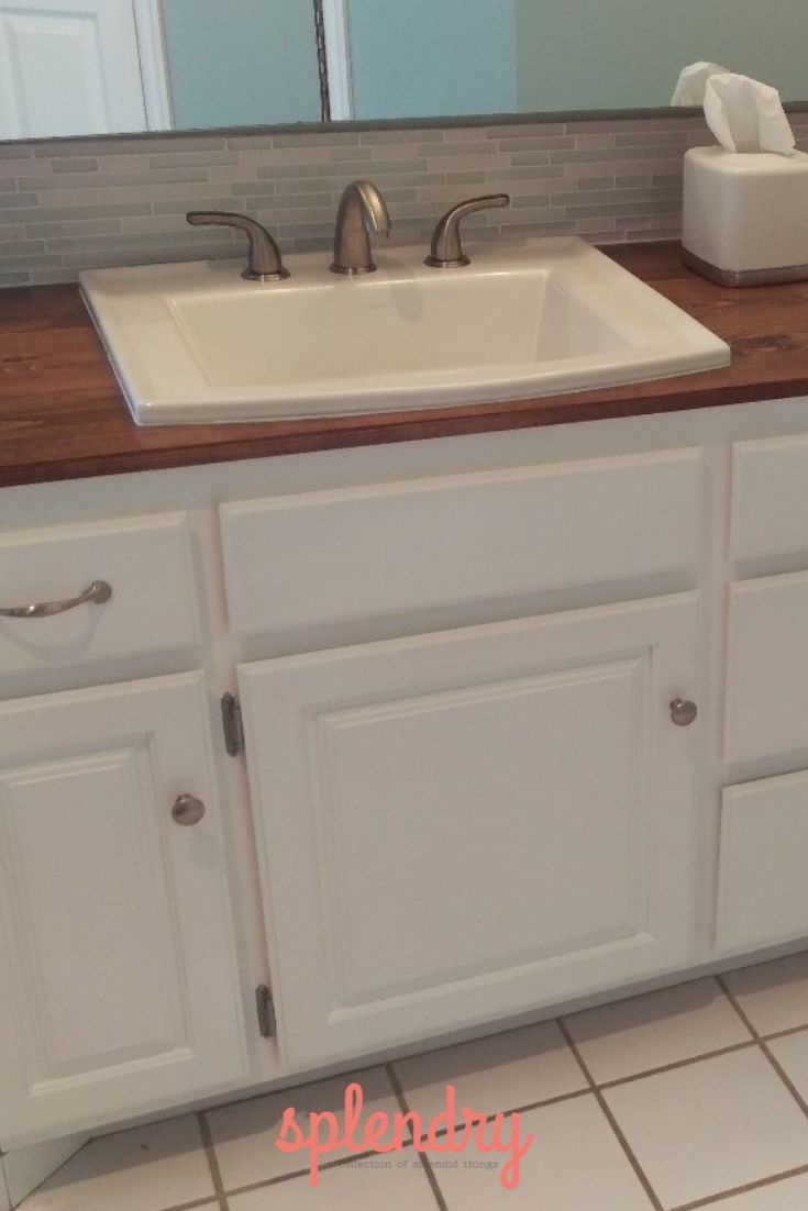 How To Make A Wooden Countertop For Your Bathroom Bathroom Styling Cottage Style Bathrooms Wooden Bathroom Countertop