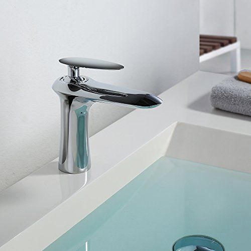 Homelody® Zeitgenössisch Chrom Bad Waschtisch Mischbatter... 1.Homelody  Verchromt Wasserhahn, Entspricht Dem Europäischen Standard. 2.Standard 3/8  Zoll ...