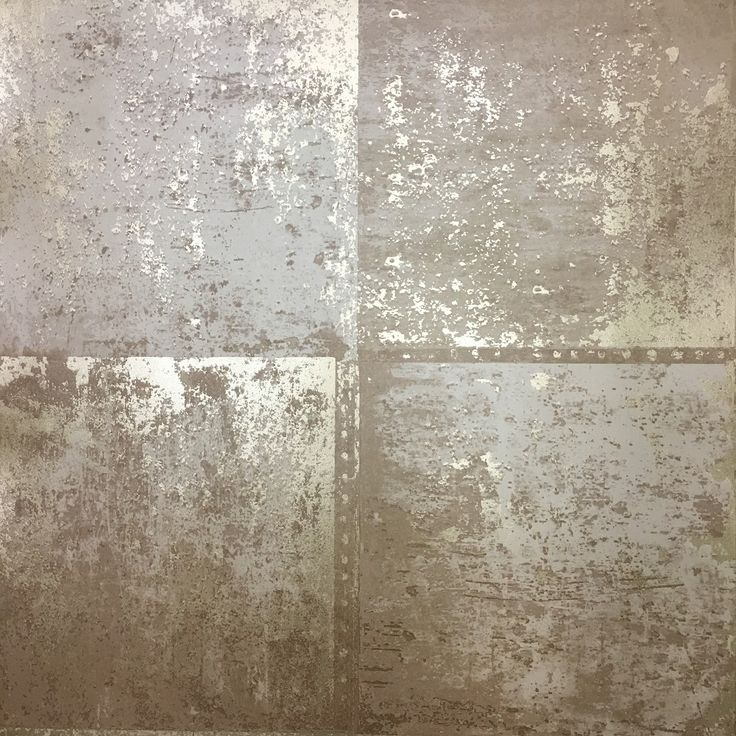 Holden Decor Metal Panel Wallpaper - Slightly textured metallic gold on a flat matt tan coloured background.