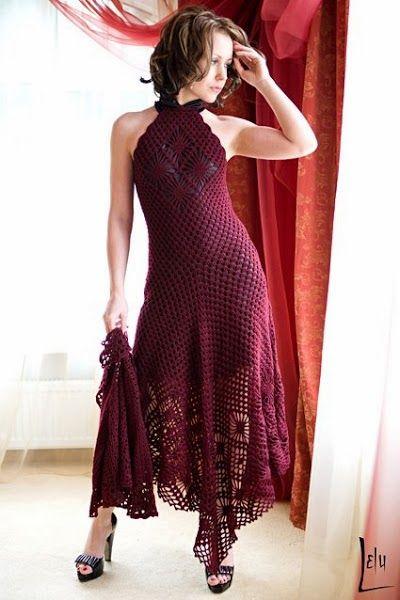 Crochet and Knitting fashion: LELU CROCHET DRESSES