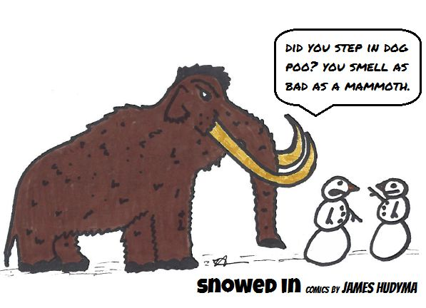 stinky mammoth snowed in comics by james hudyma
