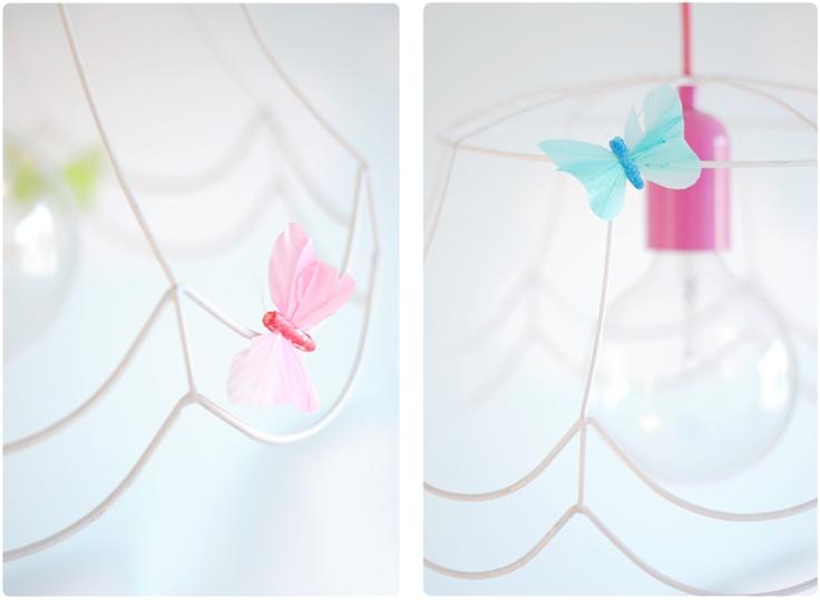 Butterflies on my daughters lamp