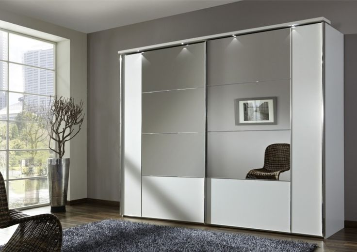 Modern Design Of Studio Apartment Design Plans With Mirrors with Super Modern Massive Clothes Closet With Mirror Sledding Doors and Stainless Steal Frame