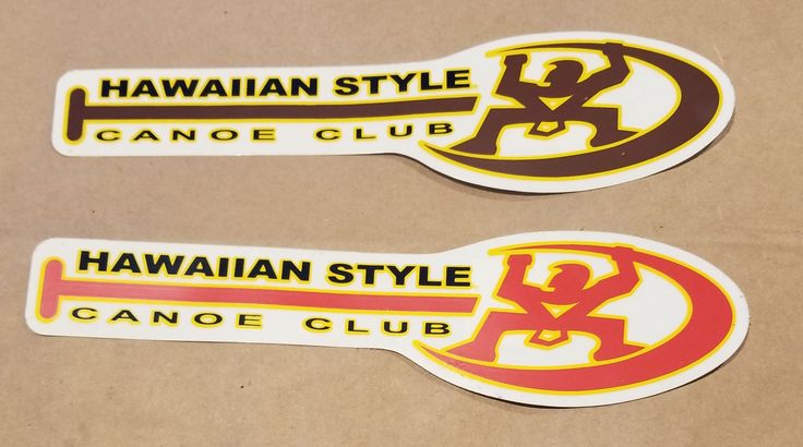 """Hawaiian Style """"Canoe Club"""" Sticker"""