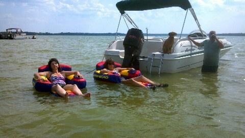 13. Lazy summer day:  Boating on Lake Waubesa