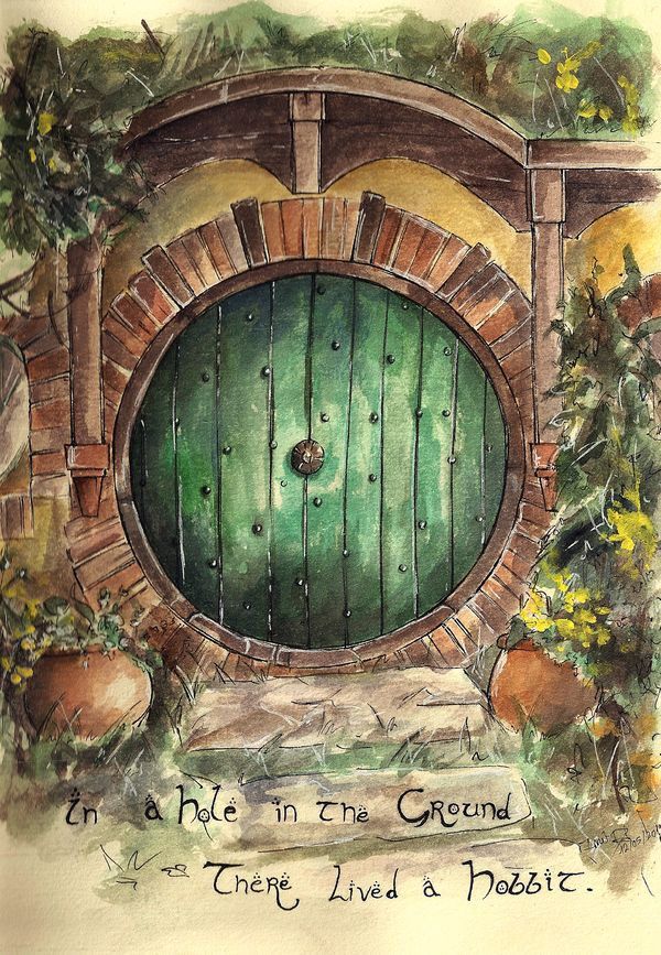 In a Hole in the Ground... by LonelyFullMoon.deviantart.com on @deviantART // Ohhhhhhhh! I LOVE THIS! *moves in*