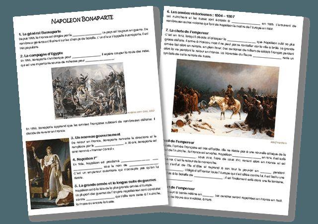 Trace écrite sur Napoléon Bonaparte – CM   la maîtresse a des yeux dans le dos