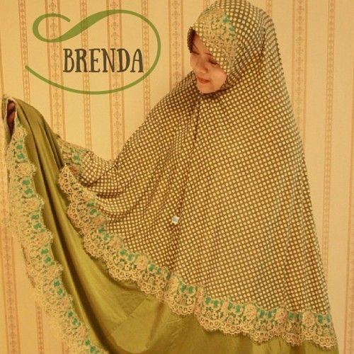 Mukena Cantik Brenda Hijau, Mukena Semi Jumbo - Muslim Online Shop | Yukbisnis